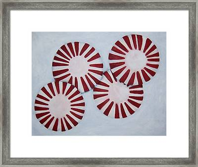 Peppermint Twist Framed Print by Penny Everhart