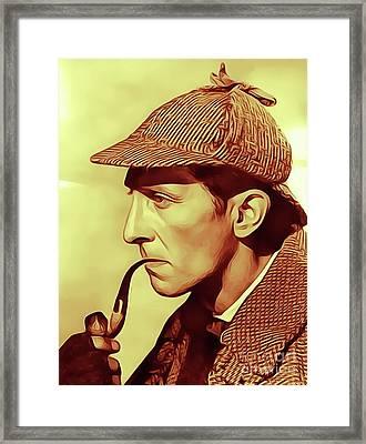 Peter Cushing As Sherlock Holmes Framed Print