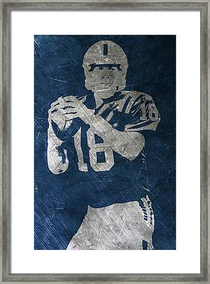 Peyton Manning Colts Framed Print by Joe Hamilton