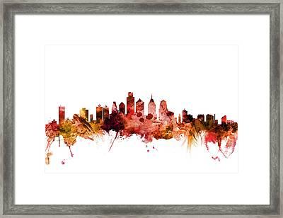 Philadelphia Pennsylvania Skyline Framed Print