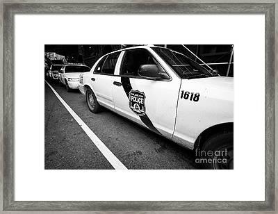 Philadelphia Police Ford Crown Vic Cruiser Patrol Car Vehicle Usa Framed Print