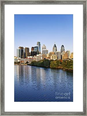 Philadelphia Skyline Framed Print