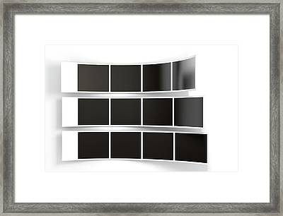 Photobooth Instant Photographs Framed Print by Allan Swart