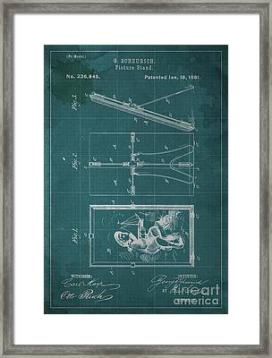 Picture Stand Patent 1881 Framed Print