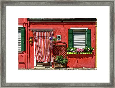 Picturesque House In Burano Framed Print