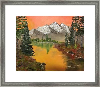 Pine Lake Framed Print