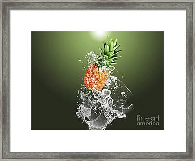 Pineapple Splash Framed Print