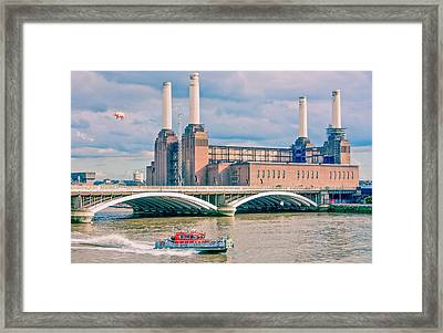 Pink Floyd's Pig At Battersea Framed Print by Dawn OConnor
