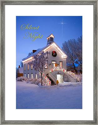 Pioneer Church At Christmas Time Framed Print