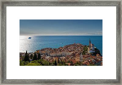 Piran Framed Print by Robert Krajnc