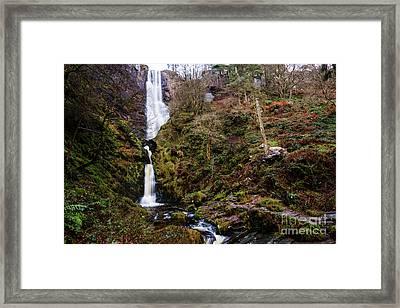 Pistyll Rhaeadr Waterfall, Wales Uk Framed Print by Keith Morris