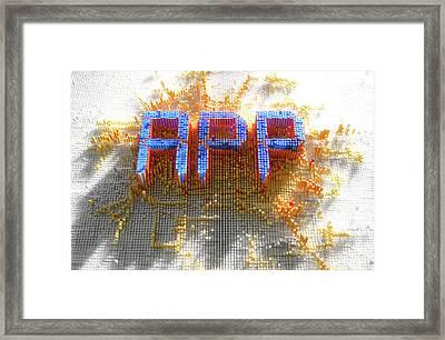 Pixel App Concept Framed Print
