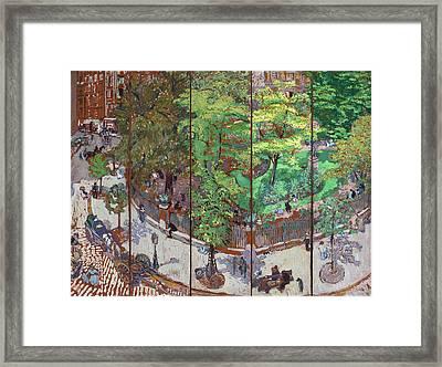 Place Vintimille Framed Print by Edouard Vuillard