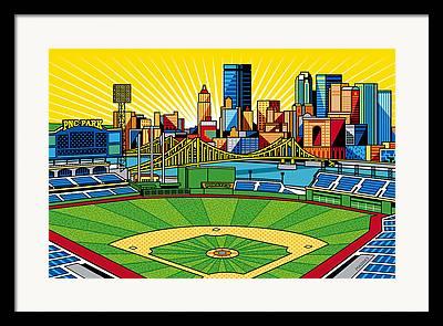 Baseball Artwork Framed Prints