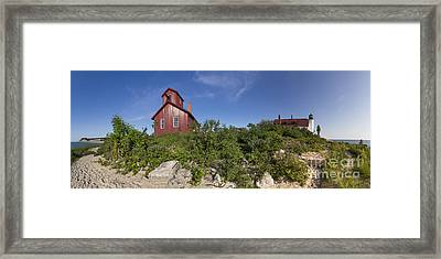 Point Betsie Life Saving Station Framed Print by Twenty Two North Photography