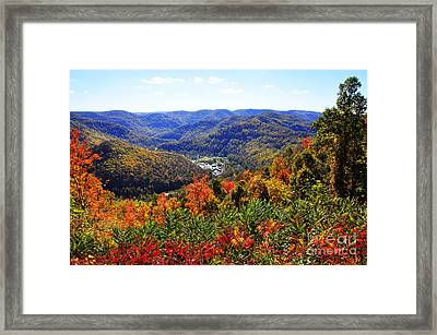 Point Mountain Overlook Framed Print by Thomas R Fletcher