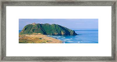 Point Sur Lighthouse At Big Sur Framed Print by Panoramic Images