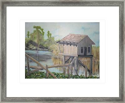Pole House Framed Print by Hal Newhouser