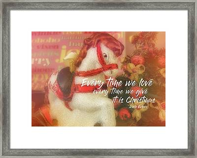 A Pony For Christmas Quote Framed Print by JAMART Photography