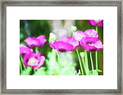 Framed Print featuring the painting Poppies by Bonnie Bruno