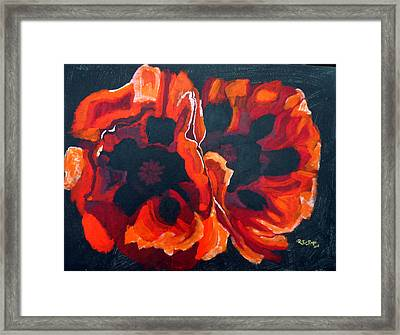 2 Poppies Framed Print