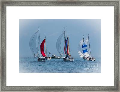 Port Huron To Mackinac Race 2015 Framed Print