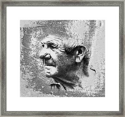 Portrait Of A Brittany Farmer Framed Print by Mark Hendrickson