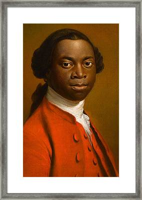 Portrait Of An African Framed Print by Allan Ramsay