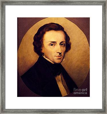 Portrait Of Frederic Chopin  Framed Print by Ary Scheffer