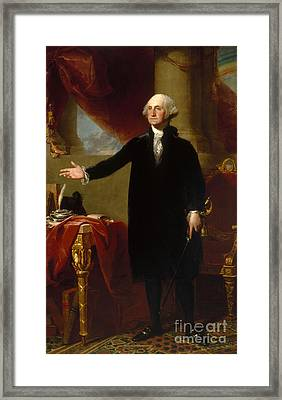 Portrait Of George Washington Framed Print