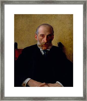 Portrait Of Isidor Gewitsch Framed Print by Mountain Dreams