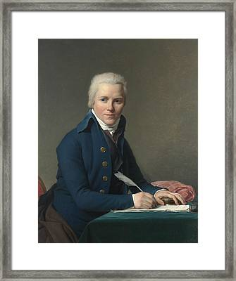 Portrait Of Jacobus Blauw Framed Print