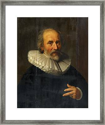 Portrait Of The Painter Abraham Bloemaert Framed Print by MotionAge Designs