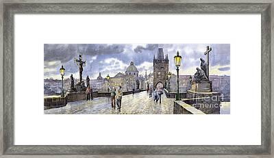 Prague Charles Bridge Framed Print