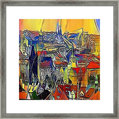 Prague Church - My Www Vikinek-art.com Framed Print