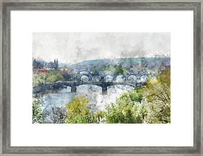 Prague Czech Republic Framed Print by Brandon Bourdages