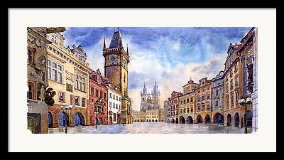 Old Town Paintings Framed Prints