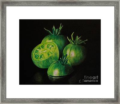 Pre-fried Green Framed Print by Elizabeth Scism