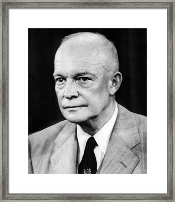 President Dwight D. Eisenhower Framed Print