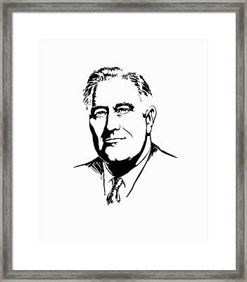 President Franklin Roosevelt Graphic Framed Print