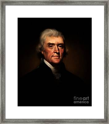 President Thomas Jefferson Framed Print