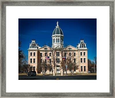 Presidio County Courthouse Framed Print by Mountain Dreams