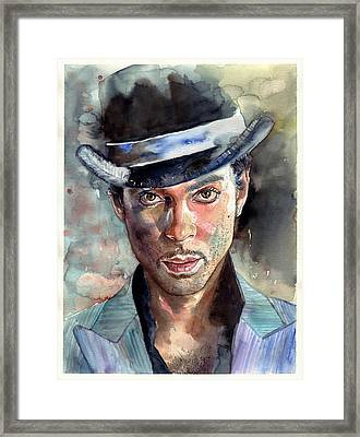 Prince Rogers Nelson Portrait Framed Print