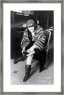 Prohibition, Flapper Flask Fashion Framed Print by Science Source