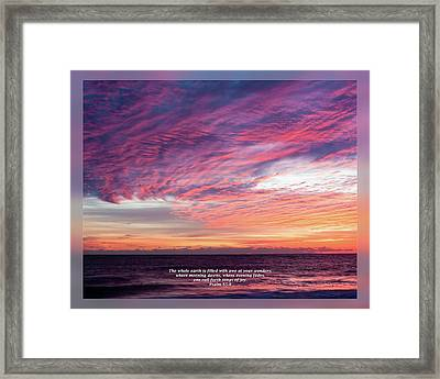 Framed Print featuring the photograph Psalm 65 8 by Dawn Currie