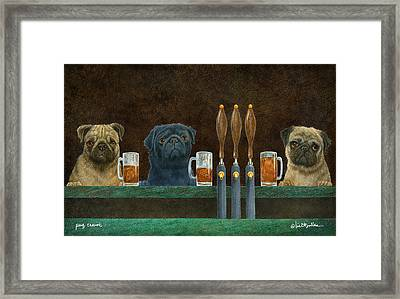 Pug Crawl... Framed Print