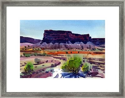 Purple Butte Framed Print by Donald Maier