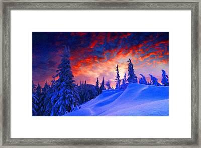 Q Landscape Framed Print