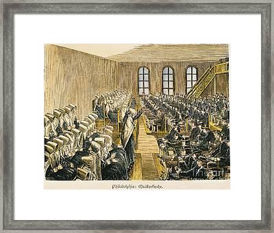 Quaker Meeting Framed Print