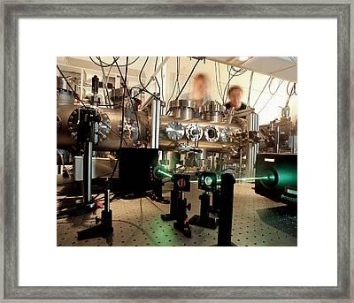 Quantum Entanglement Equipment Framed Print by Volker Steger